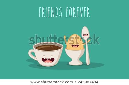 funny chocolate eggs cartoon Stock photo © adrenalina