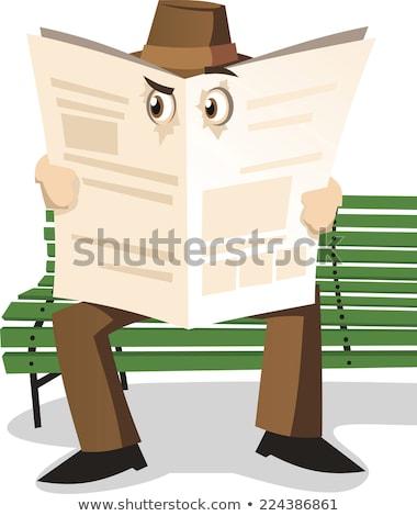 Homem científico investigação departamento ilustração trabalhar Foto stock © adrenalina