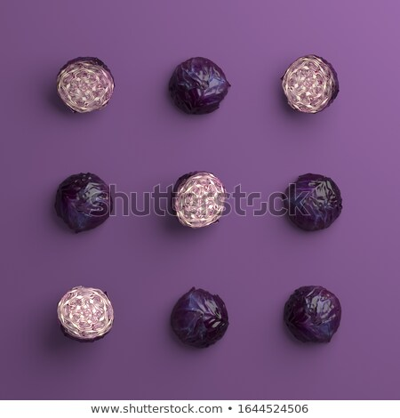 tic tac toe game with red cabbages Stock photo © arquiplay77