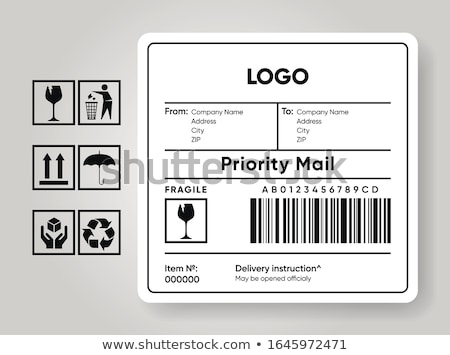 Barcode Postal Transportation Company Icon Vector Illustration Stock photo © pikepicture