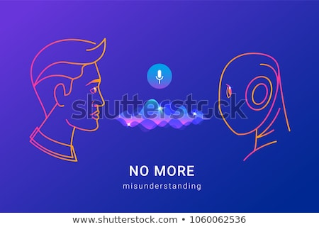 Computer Human Voice Control Icon Vector Illustration Stock photo © pikepicture