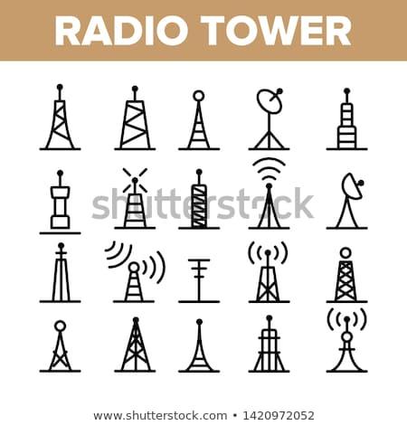 Online telekommunikáció ikon vektor skicc illusztráció Stock fotó © pikepicture