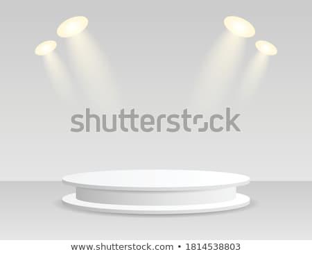 Fókusz pódium kirakat terv fény háttér Stock fotó © SArts