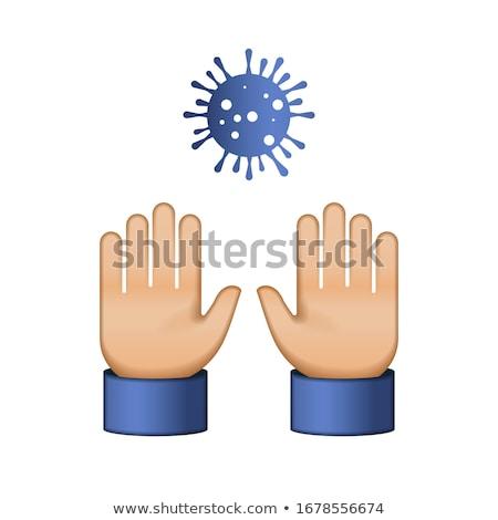 Değil dokunmayın bana virüs coronavirüs ev Stok fotoğraf © ikopylov