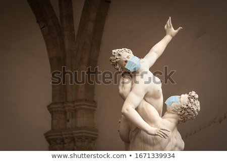 The Kidnapping of the Sabine Women Statue by Giambologna, in the Stock photo © feverpitch