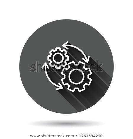 Lang workflow beheer icon vector schets Stockfoto © pikepicture