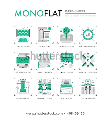 Blogger Internet Social Channel Icons Set Vector Stock photo © pikepicture