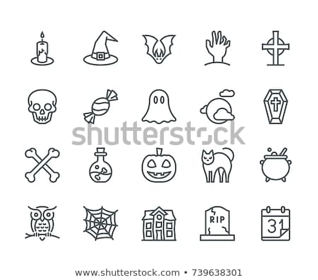 house with ghosts icon vector outline illustration Stock photo © pikepicture