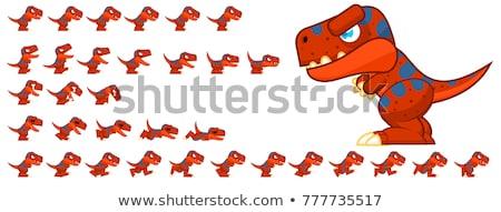 Sautant cartoon illustration drôle animaux lézard Photo stock © bennerdesign