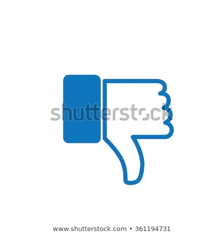 Dislike thumb down social network symbol Stock photo © montego