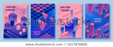 3D geometric shapes, vector illustration. Stock photo © kup1984