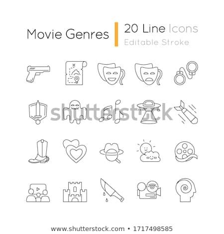 Genres of cinema icons set Stock photo © ayaxmr