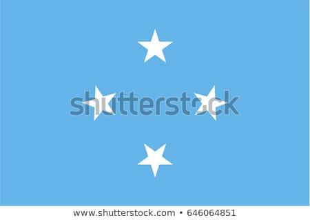 Micronésia bandeira branco projeto oceano azul Foto stock © butenkow