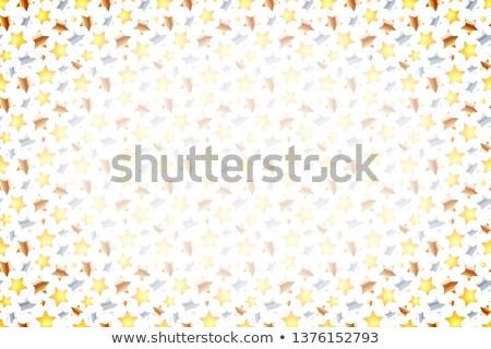 Wiele złoty srebrny brąz gwiazdki biały Zdjęcia stock © evgeny89