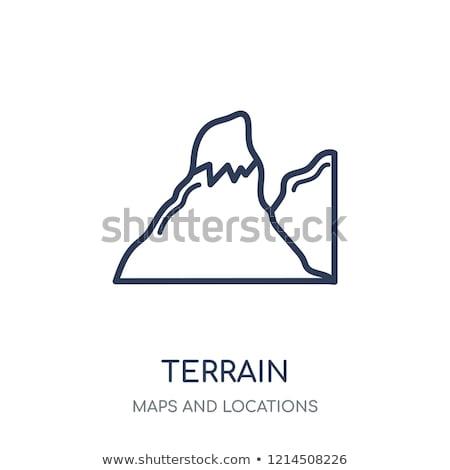 Montagna foresta terreno icona vettore contorno Foto d'archivio © pikepicture