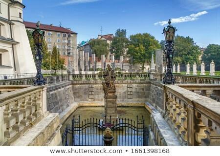 Stagno cracovia Polonia monastero viaggio architettura Foto d'archivio © borisb17