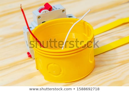 plastik · standart · elektrik · kutu · duvar · doku - stok fotoğraf © ruslanomega