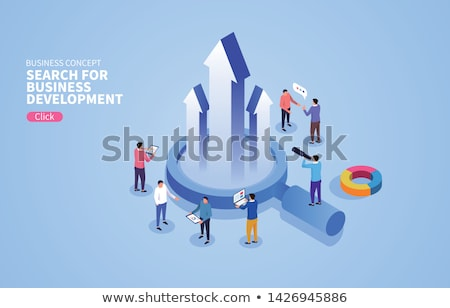 Business People aorund Bar Graph Stock photo © vectomart