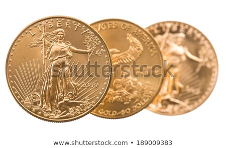 Stack of one ounce gold coins Stock photo © backyardproductions