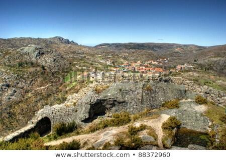 oude · locomotief · vallei · Portugal · machine · vervoer - stockfoto © inaquim