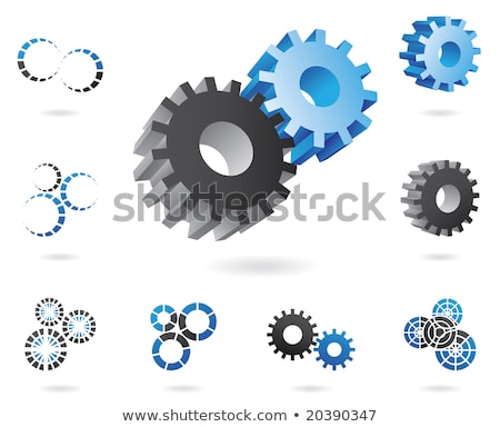 2d and 3d cogs Stock photo © cidepix