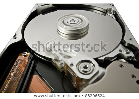 hard disk on white in extreme perspective Stock photo © gewoldi