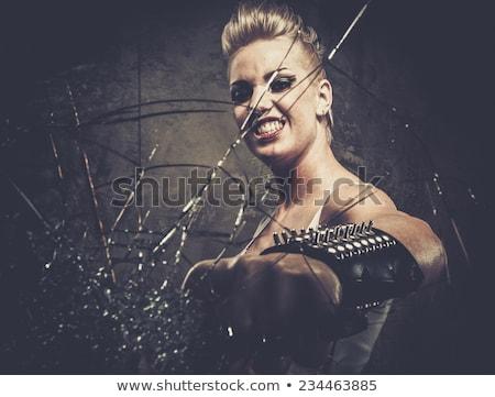 Agresywny punk dziewczyna sexy odizolowany oka Zdjęcia stock © keeweeboy