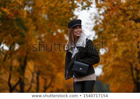Cute woman in nature scenery Stock photo © konradbak