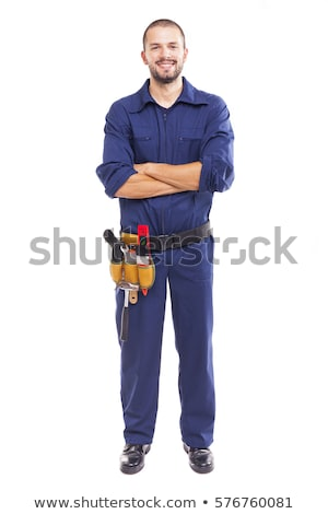 Male worker in uniform Stock photo © lovleah