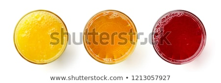 üveg almalé hideg friss darab alma Stock fotó © prill
