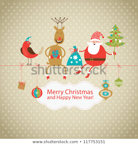 веселый · Рождества · Дед · Мороз · сообщение · совета · снега - Сток-фото © mythja
