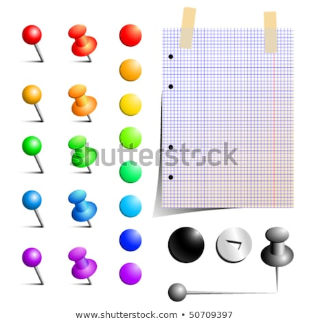 sheet paper pinned by pin with pencil stock photo © loopall
