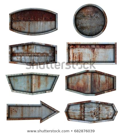 metal plate with a rust Stock photo © zeffss