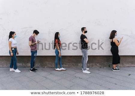 очередь · люди · иллюстрация · долго · ждет · что-то - Сток-фото © BarbaRie