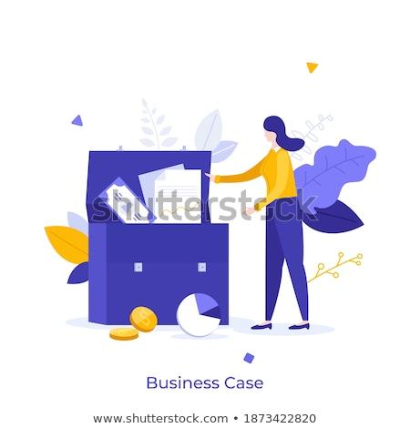 femme · d'affaires · documents · cas · sur · papier - photo stock © varlyte