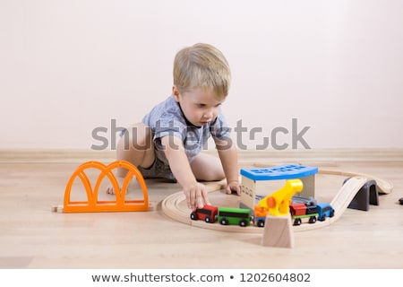 baby boys building creative play dice stock photo © justinb