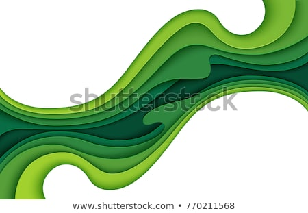 green paper origami stock photo © barbaliss