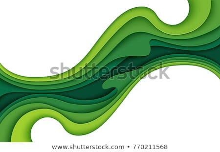 зеленый бумаги оригами вектора искусства пространстве Сток-фото © barbaliss