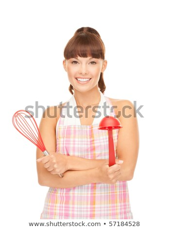 lovely housewife with scoop stock photo © dolgachov