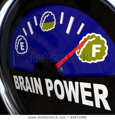 Brain Power Fuel Gauge Measures Intelligence and Smart Thinking Stock photo © iqoncept