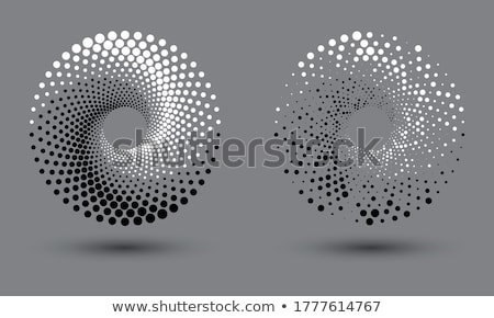 Black and white pattern in a circle. Background. Ying yang. Stock photo © Stellis