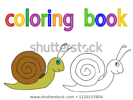 Cute cartoon slak creatieve ontwerp kunst Stockfoto © indiwarm