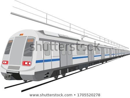 Metró Delhi állomás hálózat hat vonalak Stock fotó © joyr