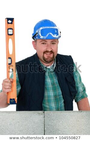 ぽってり 石工 家 建物 建設 作業 ストックフォト © photography33