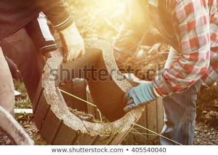 ремесленник каменные стены области улыбаясь Сток-фото © photography33