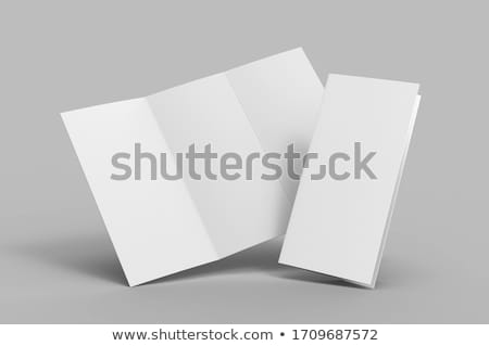 Dossiers bleu bleu clair isolé blanche papier Photo stock © JohanH