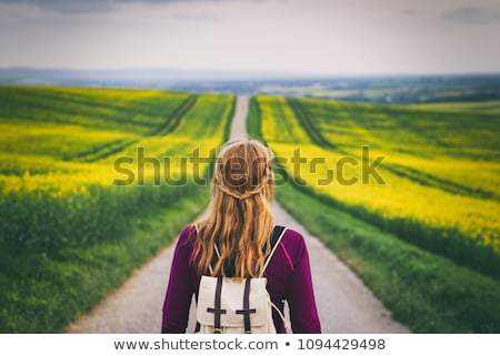 Blond woman about to go hiking Stock photo © photography33