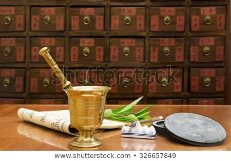 Traditional chinese medicine shop Stock photo © leungchopan