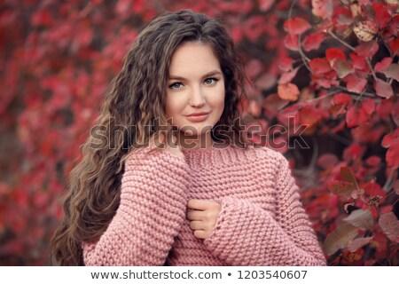 mulher · manhã · backlight · belo · jovem · esbelto - foto stock © bartekwardziak