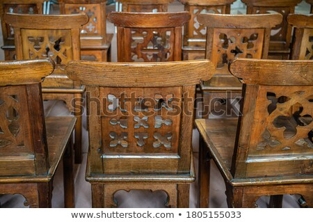 rows of prayers chairs Stock photo © franky242